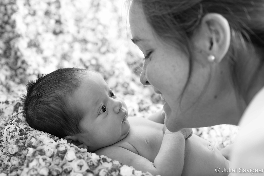 Looking At Mummy - Newborn Baby Photography, Balham
