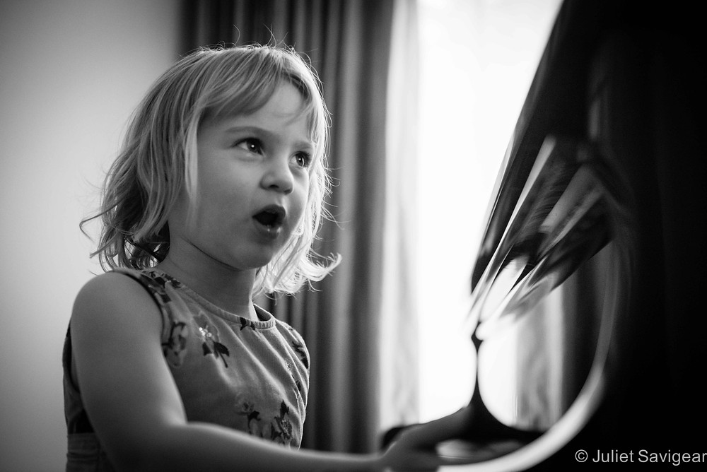 Playing The Piano - Children's Photography, Purley
