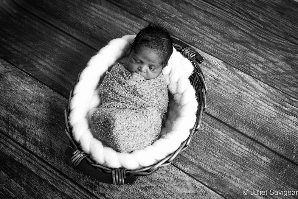 Baby In Basket - Newborn Baby Photography, Ilford, Essex