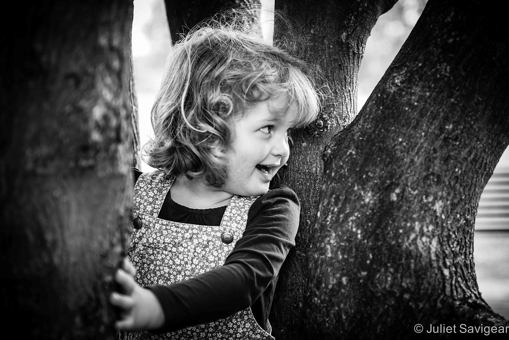 Hiding In The Trees - Children's Photography, Wimbldeon