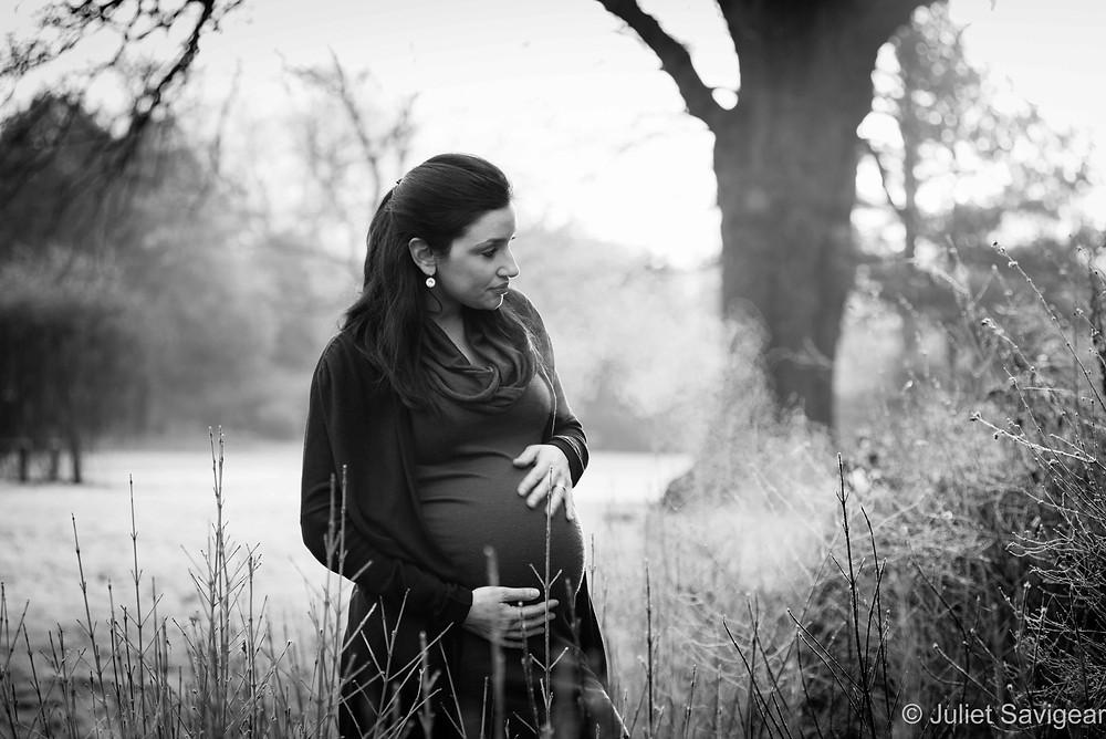 Frosty Morning - Maternity Photography - Dulwich Park