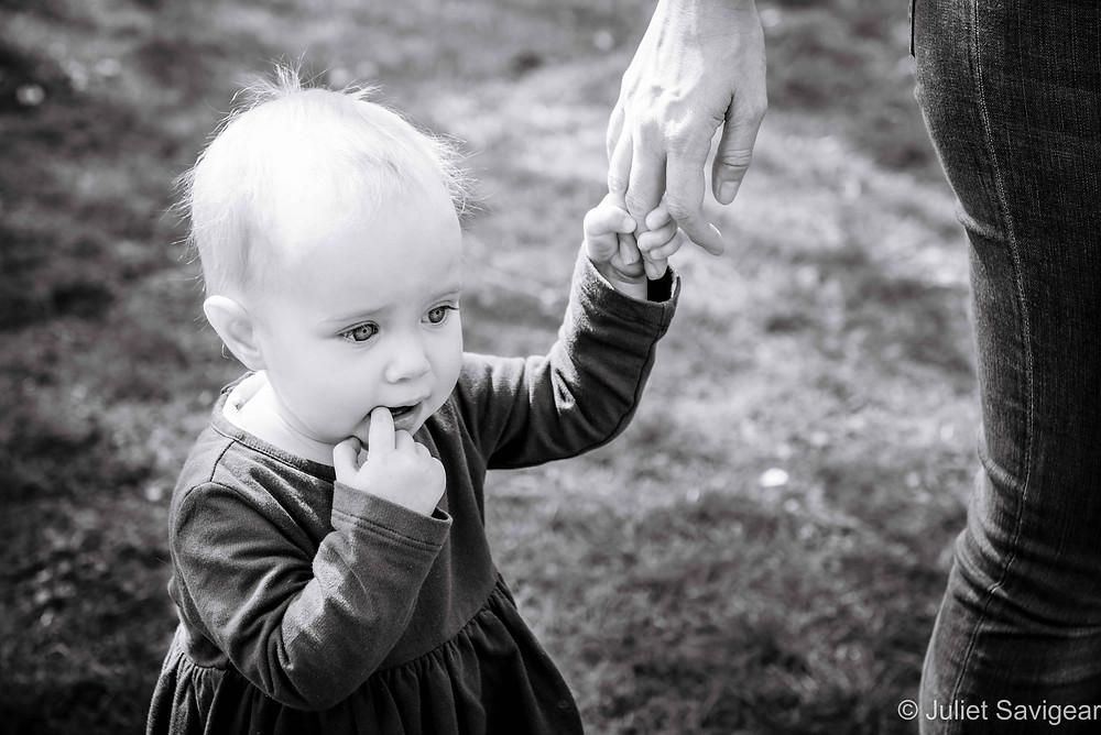 Toddler holding Mummy's Hand