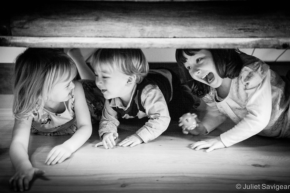 Under The Table - Children's Photography, Purley