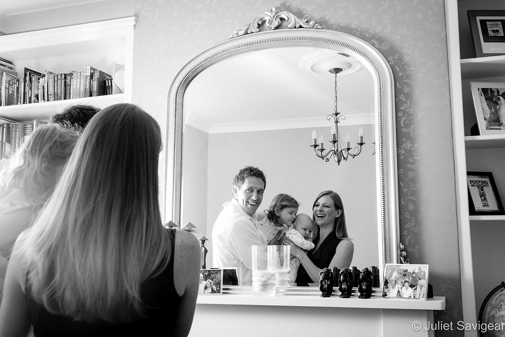 Family reflections in the mirror
