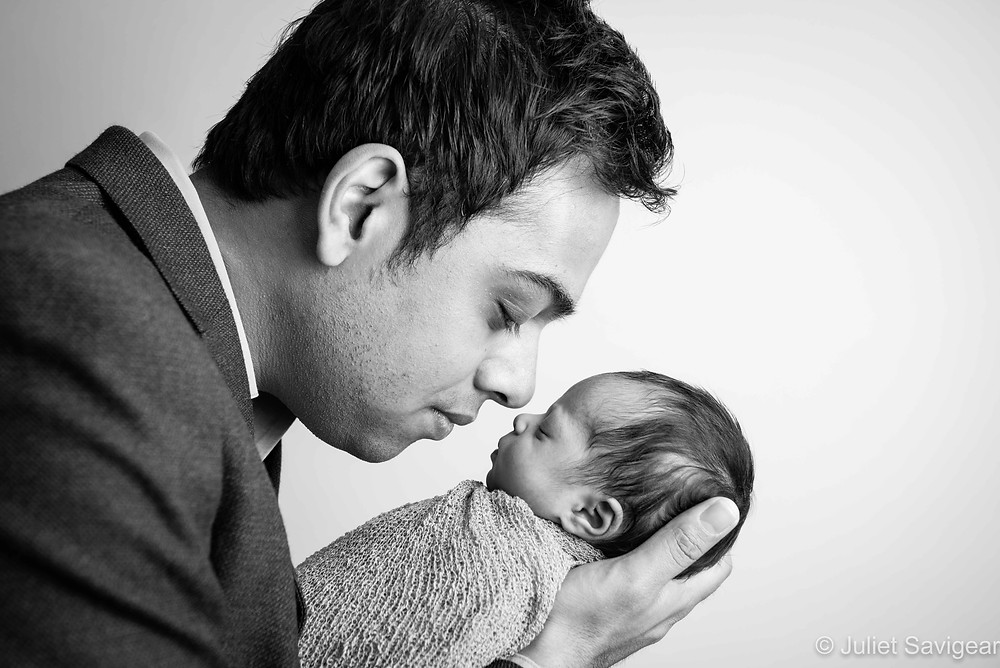 Nose To Nose - Newborn Baby Photography, Colliers Wood