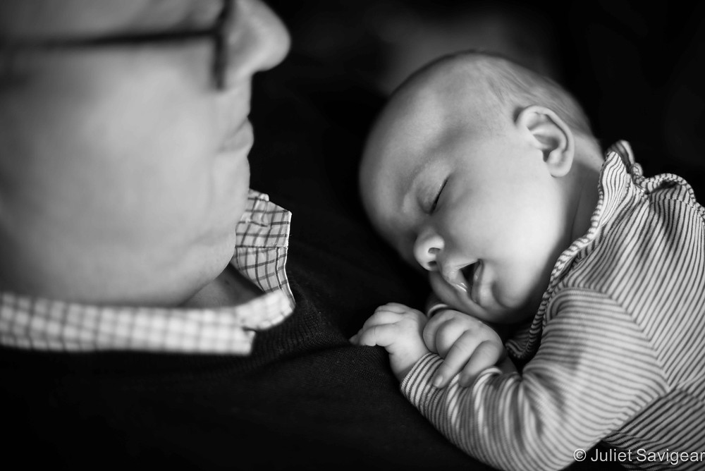 Sleeping On Daddy... again!  - baby photography, London, SE1