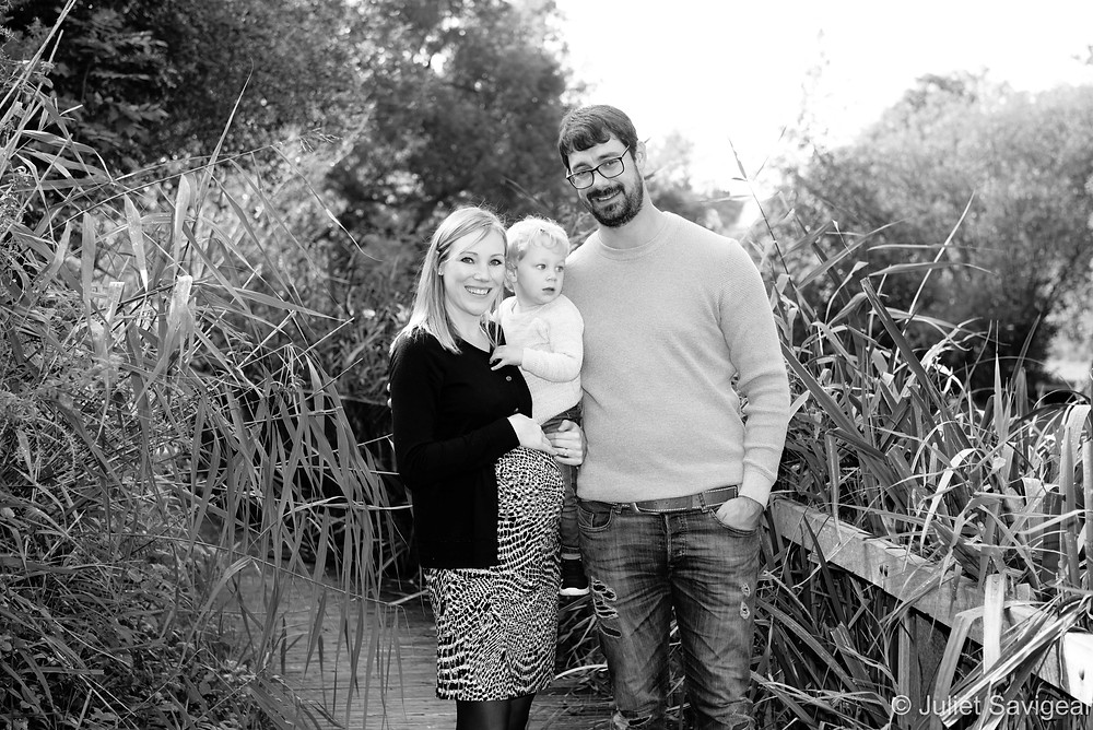Family on the Wandsworth Common boardwalks