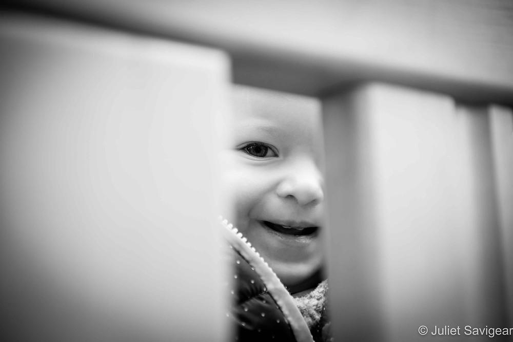 Peek-A-Boo - Baby Photography, Belsize Park