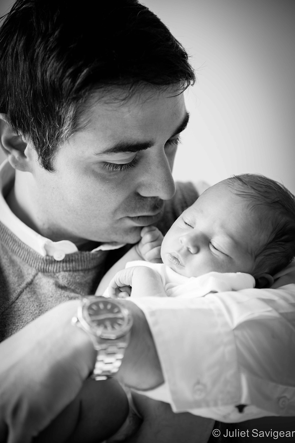 In Daddy's Arms - Newborn Baby & Family Photography, Hammersmith