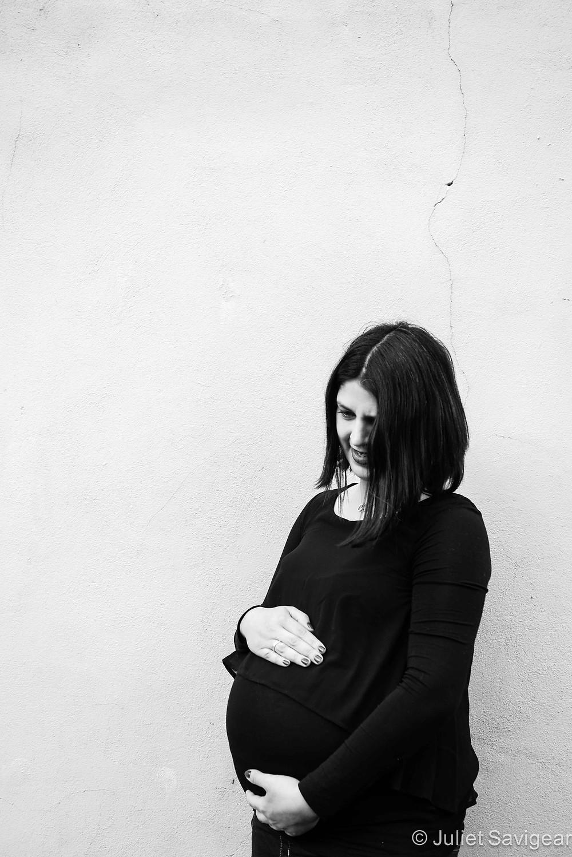 Black & White Pregnancy Photography, Wimbledon
