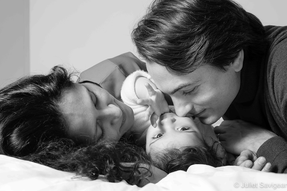 Beautiful family photography with baby