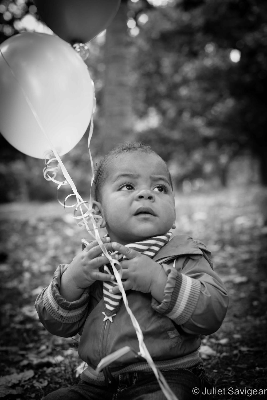Birthday Balloons - First Birthday Photo Shoot, Kensal Green