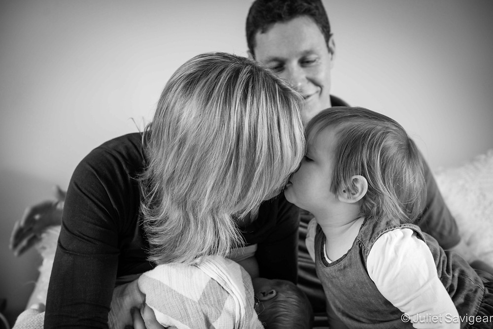 Kisses For Mummy Too! Newborn Baby & Family Photography, Wimbledon