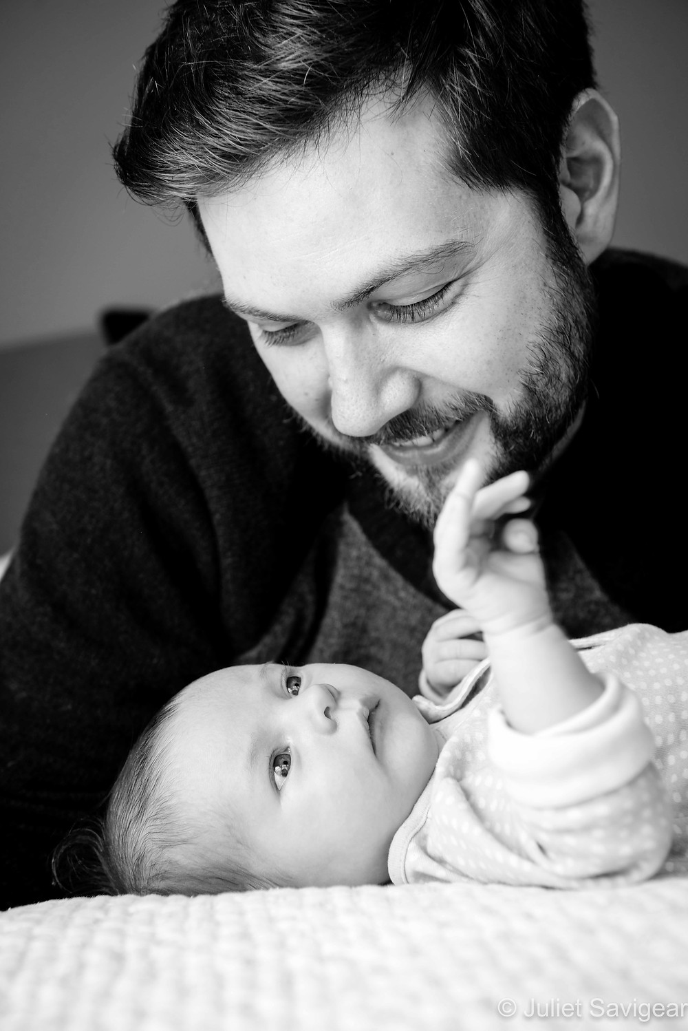 Father's joy of new baby