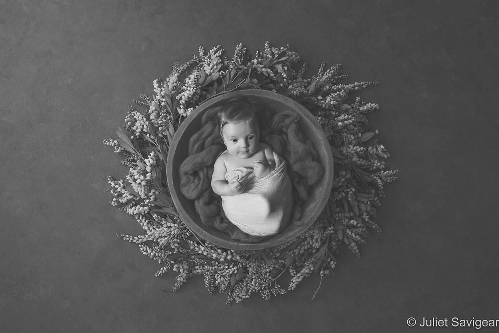 Baby in wreath