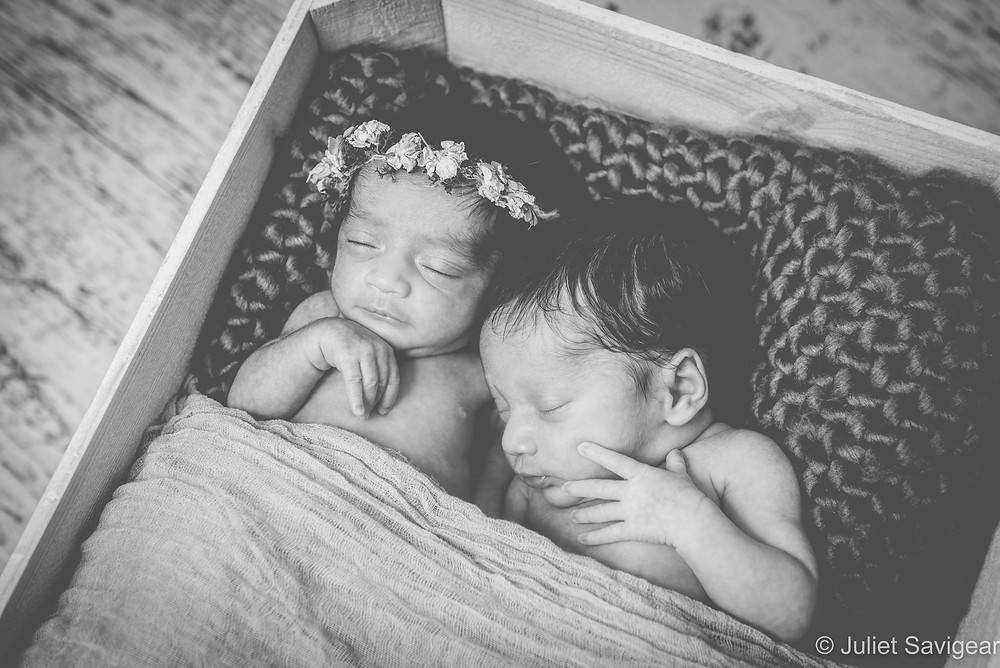 Newborn Baby Twins In A Box
