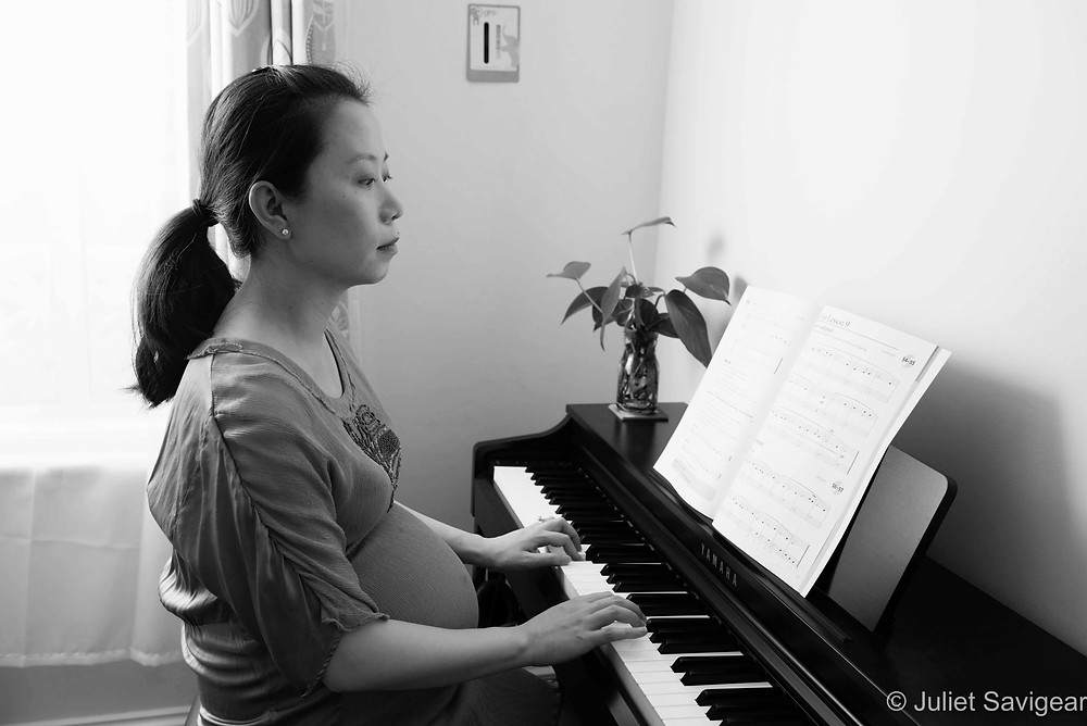 Playing The Piano - Maternity Photography - Stratford, London