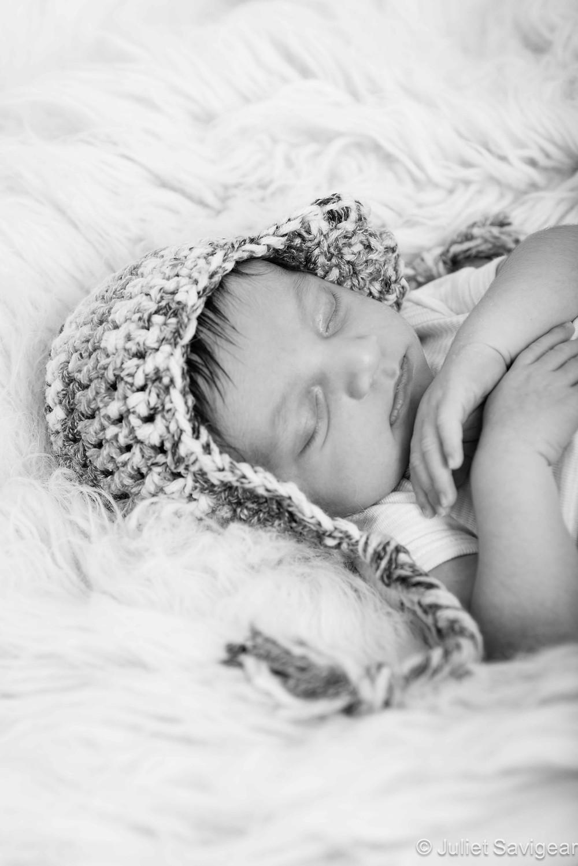 Cute Baby Boy In Hat - Newborn Baby Photography, Streatham