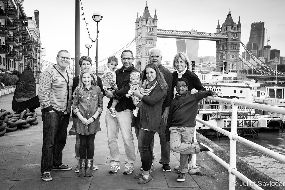 Extended Family Portrait Photography - Tower Bridge, London