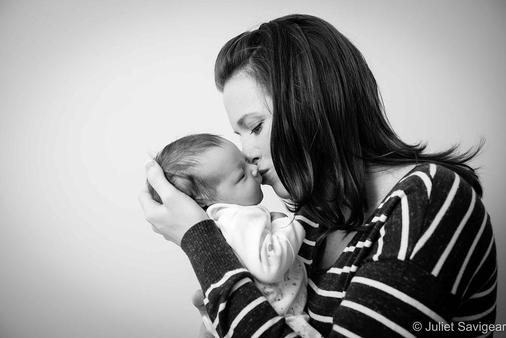Mummy's Kiss - Newborn Baby & Family Photography, Battersea