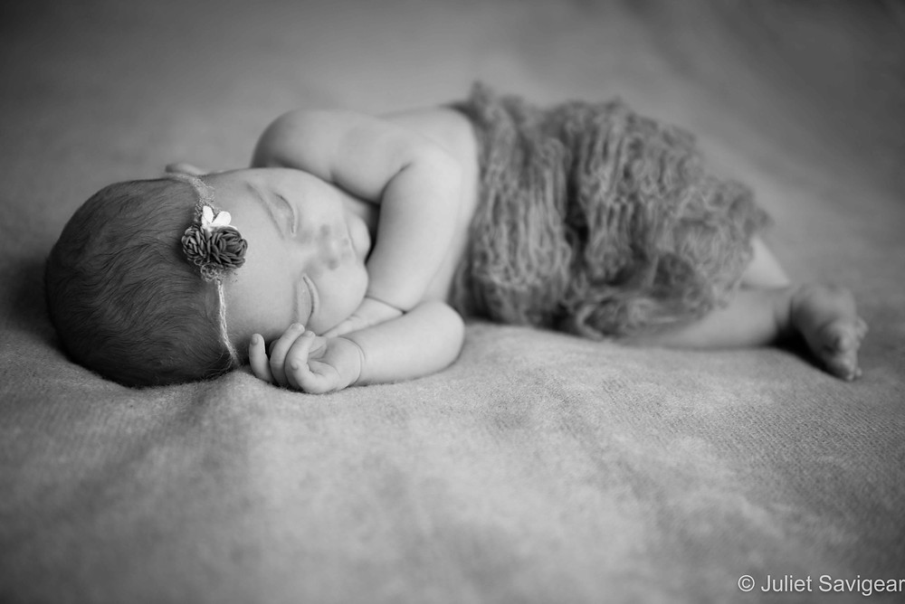 Sleeping Baby - Newborn Baby Photography, Canary Wharf