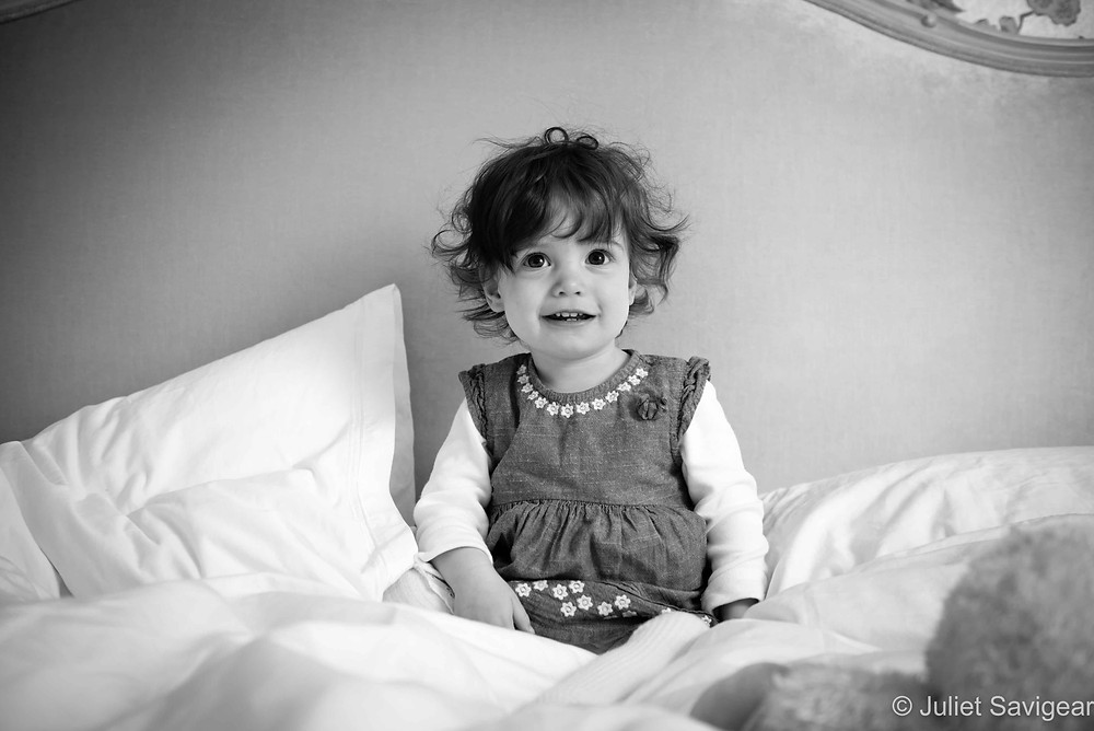 On The Bed - Children's Photography, Balham