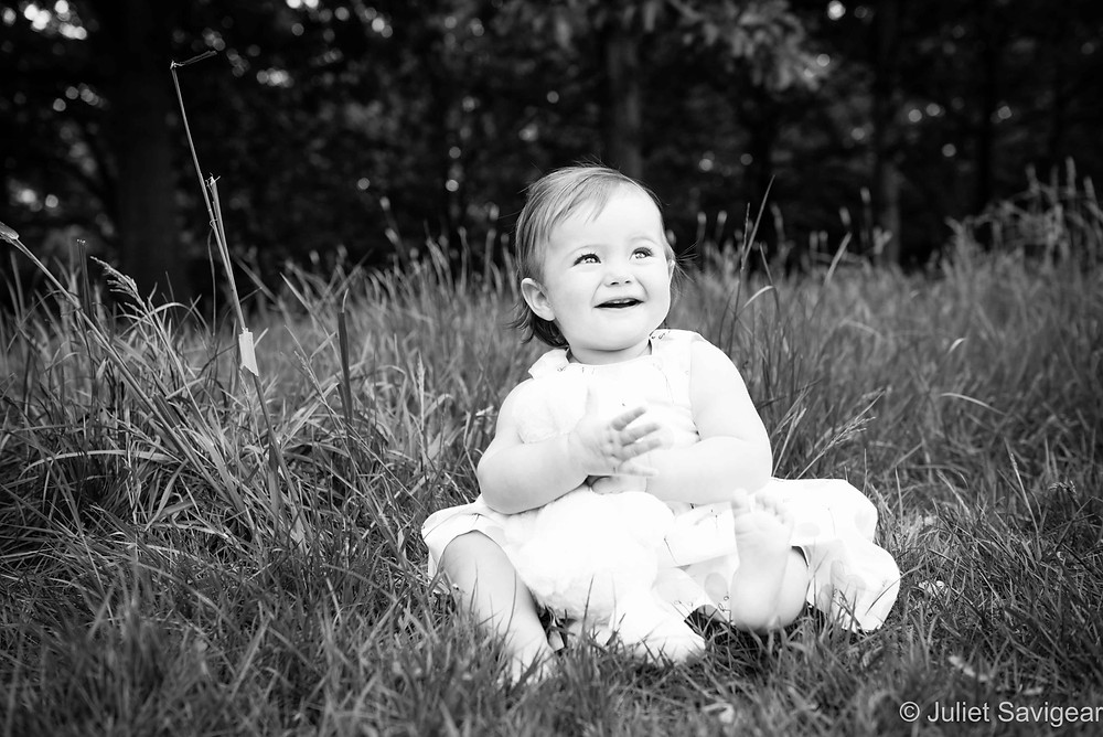In The Grass - Baby Photography, Balham