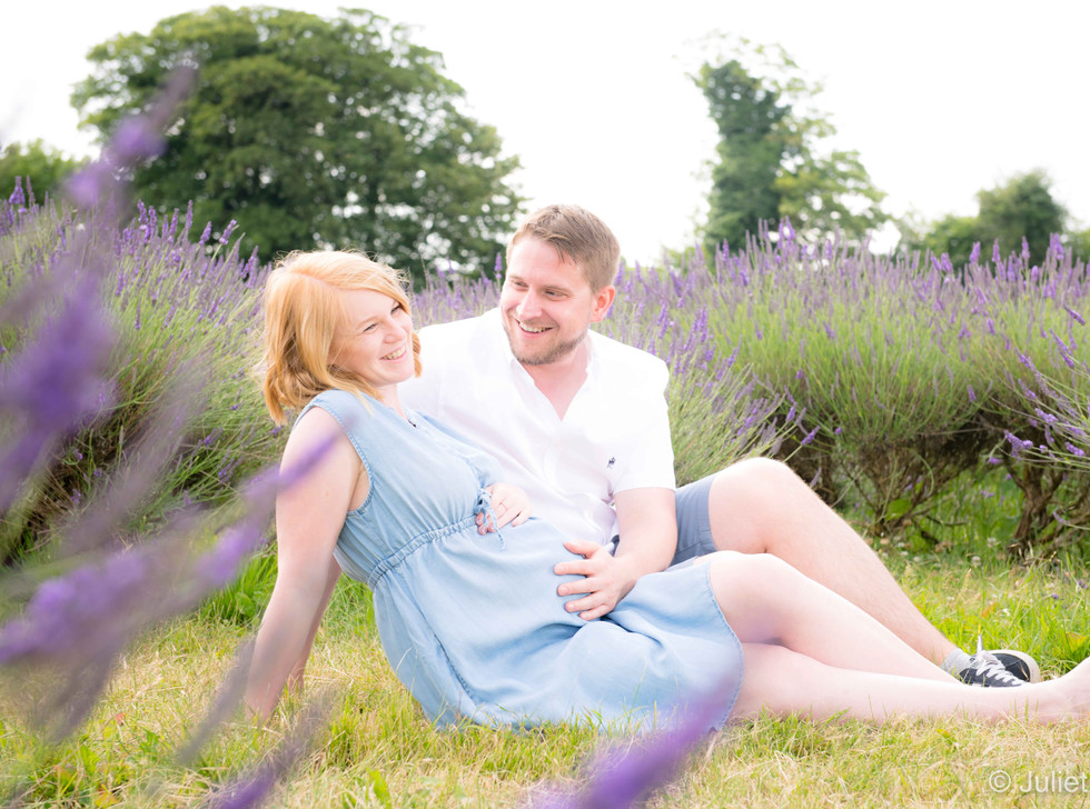 Couple Among Lavender Bloom