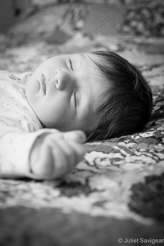 Sleepy Head - Baby Photography, Putney