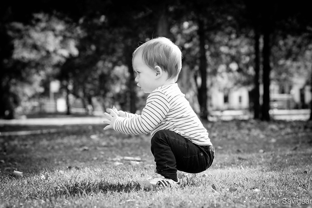 Toddler in the park