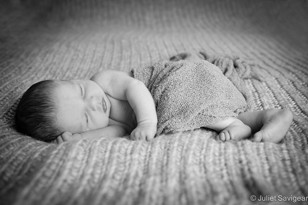 Sleeping Baby - Newborn Baby Photography, Clapham