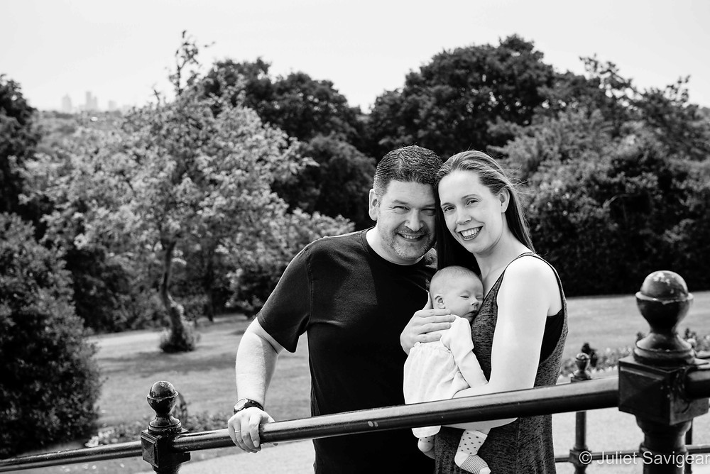 Family Portrait With London View - Baby Photography - Alexandria Palace Gardens