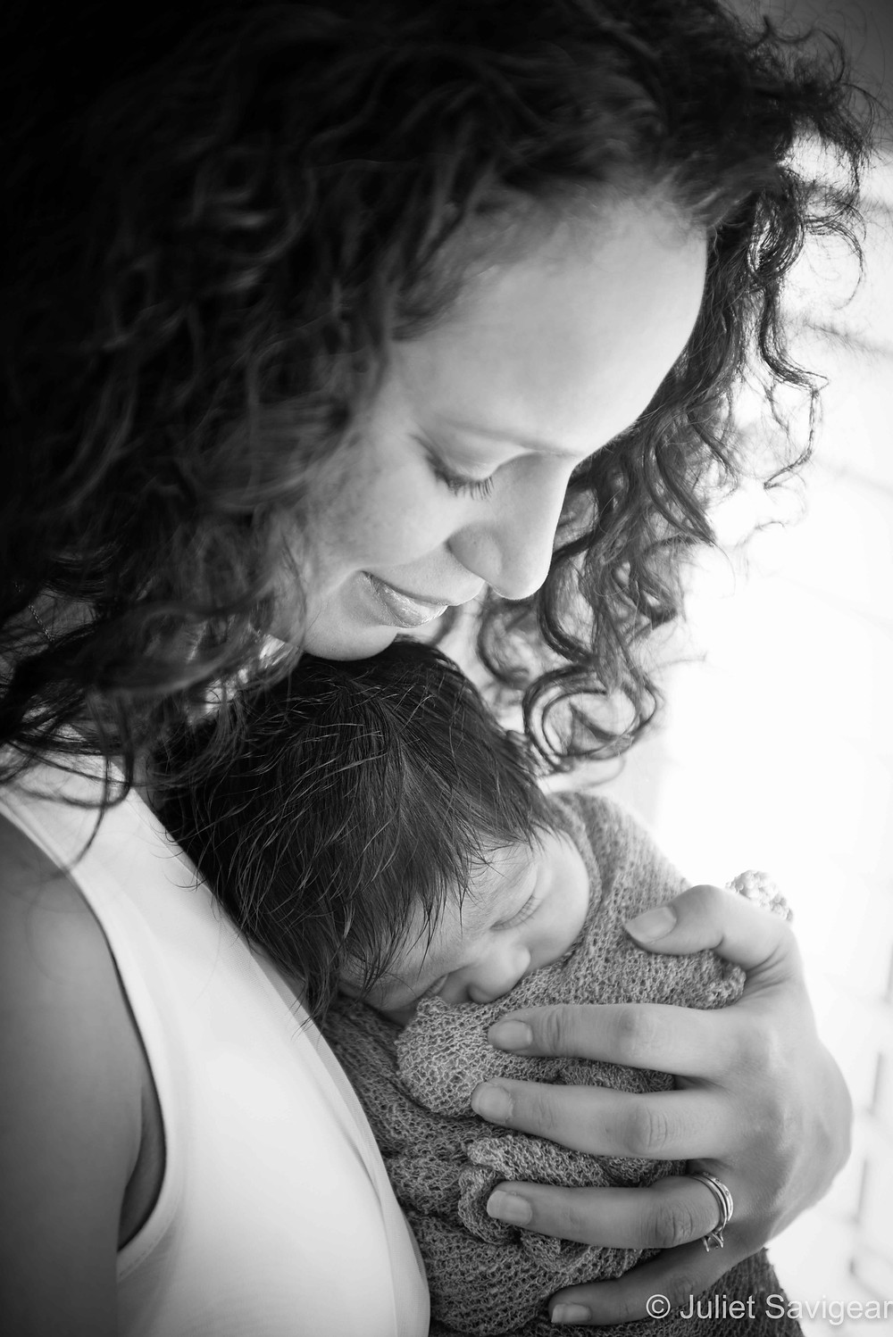 Little Bundle In Mother's Arms - Newborn Baby & Family Photograph, Colliers Wood