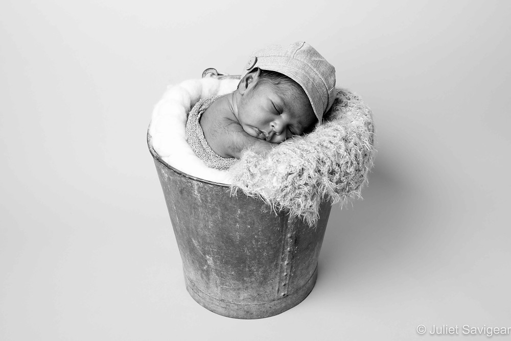 Baby In A Bucket - Newborn Baby Photography, Ilford, Essex