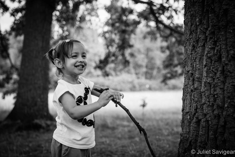 Sticks - Children's Photography, London