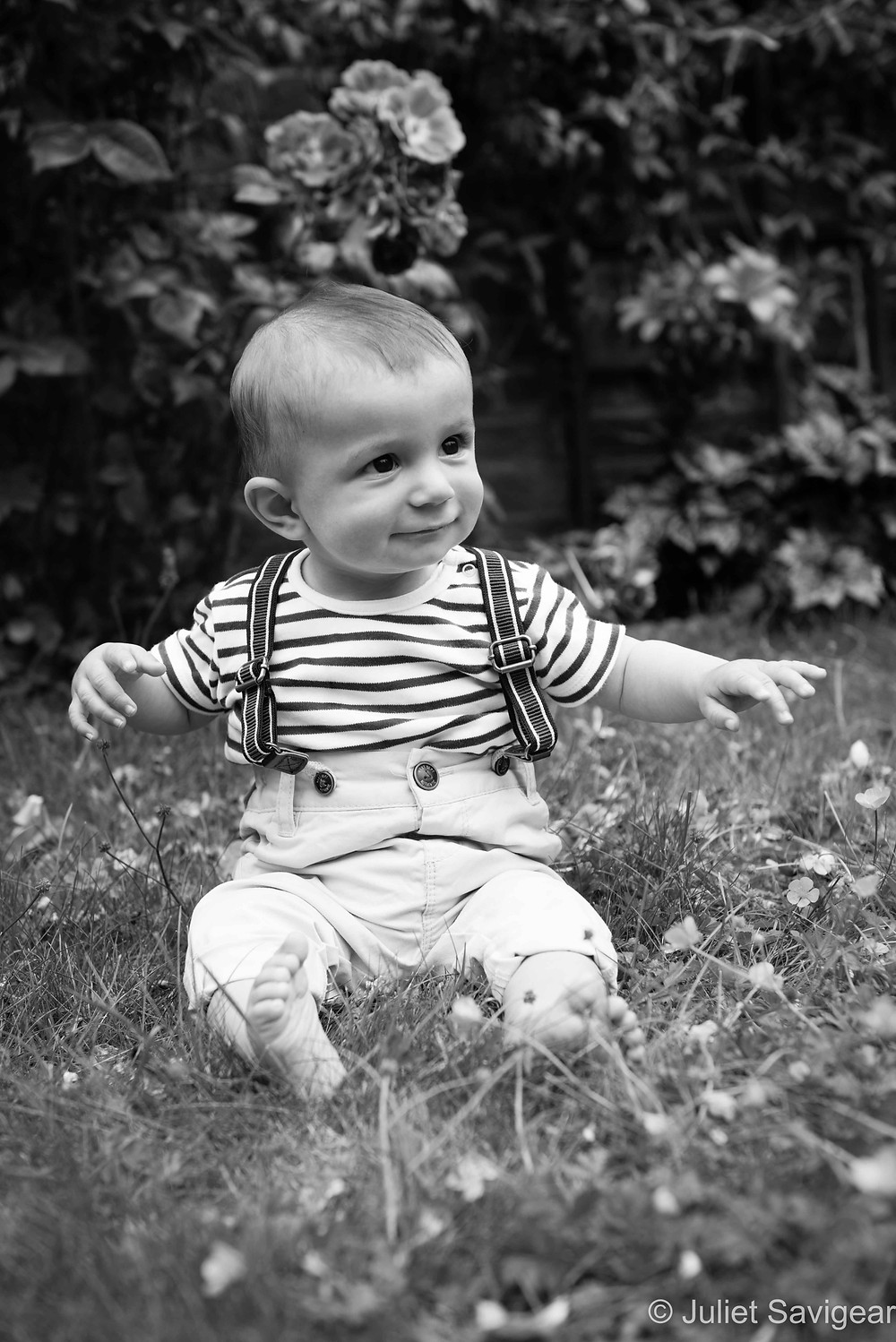 Among The Flowers - Baby Photography, Ealing