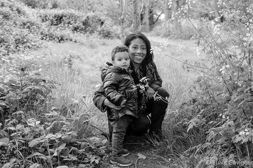 Mother & son in the park