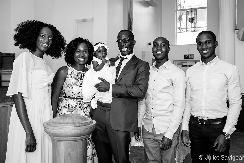 Baby's christening - family
