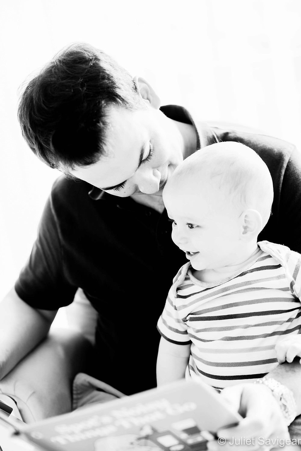 Reading with daddy