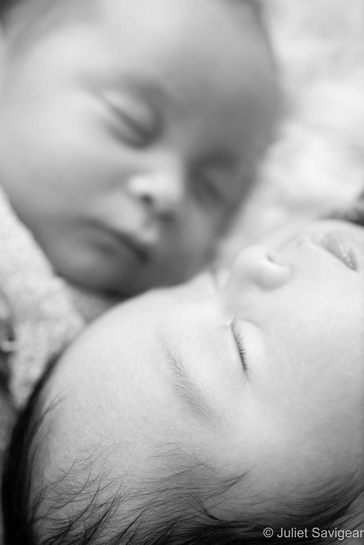 Close Up Twins - Newborn Baby Photography - Wandsworth