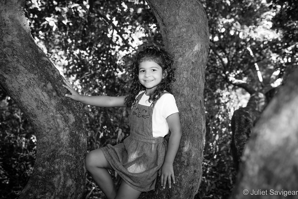 Posing in the tree
