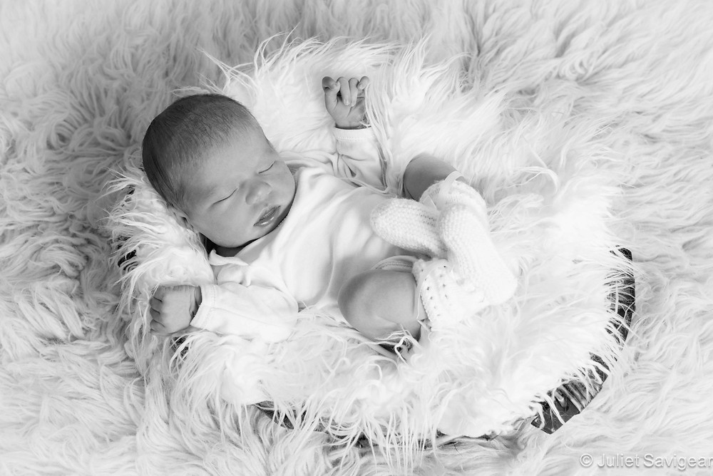 White Bundle - Newborn Baby Photography, Wimbledon