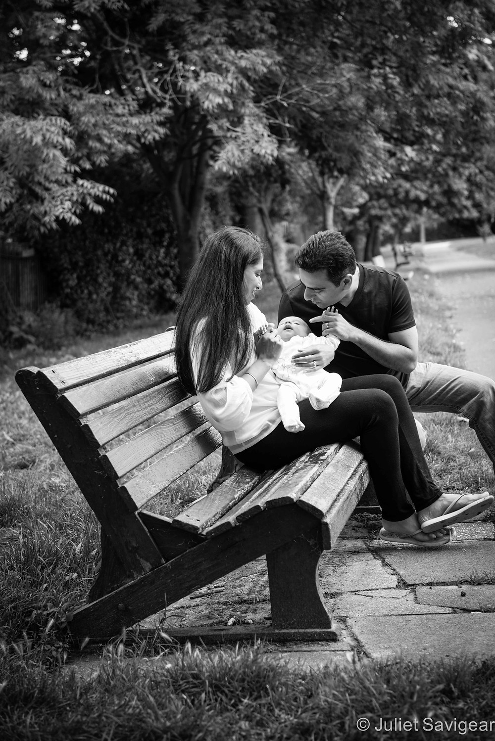 Park Bench - Baby & Family Photography, Croydon