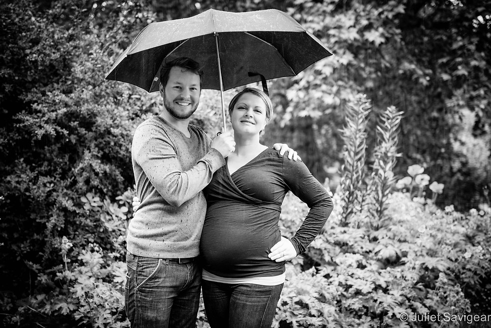 The Rain Came Down - Maternity Photography, London
