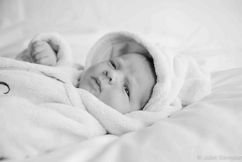 Baby in hoody