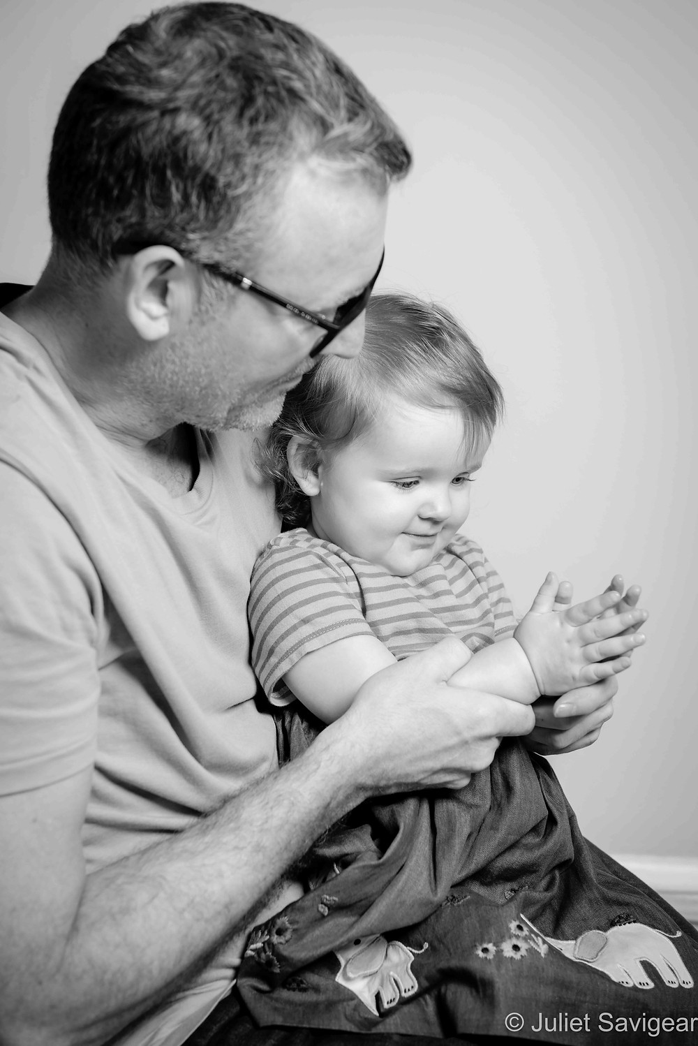 Daddy with one year old daughter