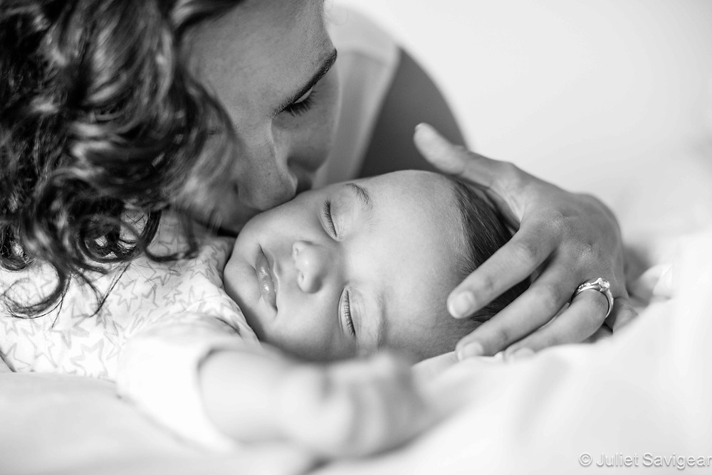 Kisses For Sleeping Baby - Baby & Family Photography, Maida Vale