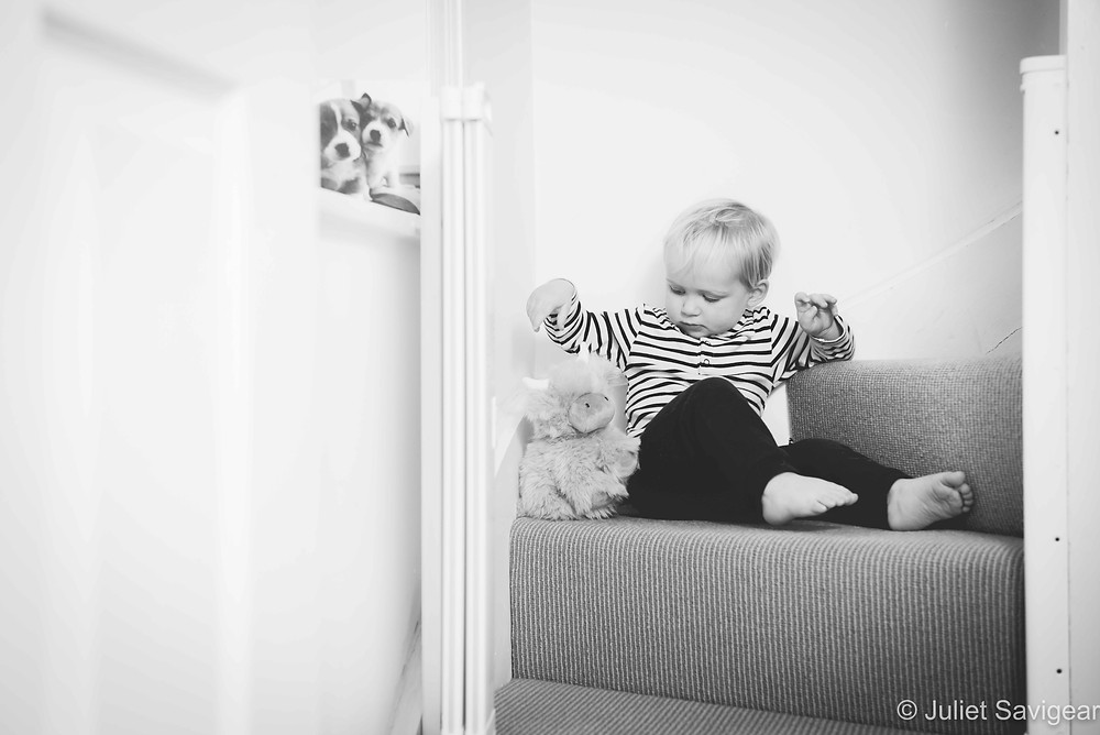 Toddler on the staircase