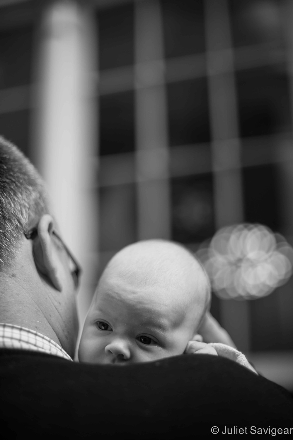 On Daddy's Shoulder  - baby photography, London, SE1