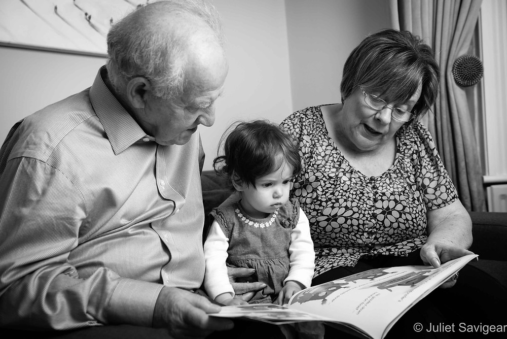 Storytime With Grandparents - Family Photography, Balham